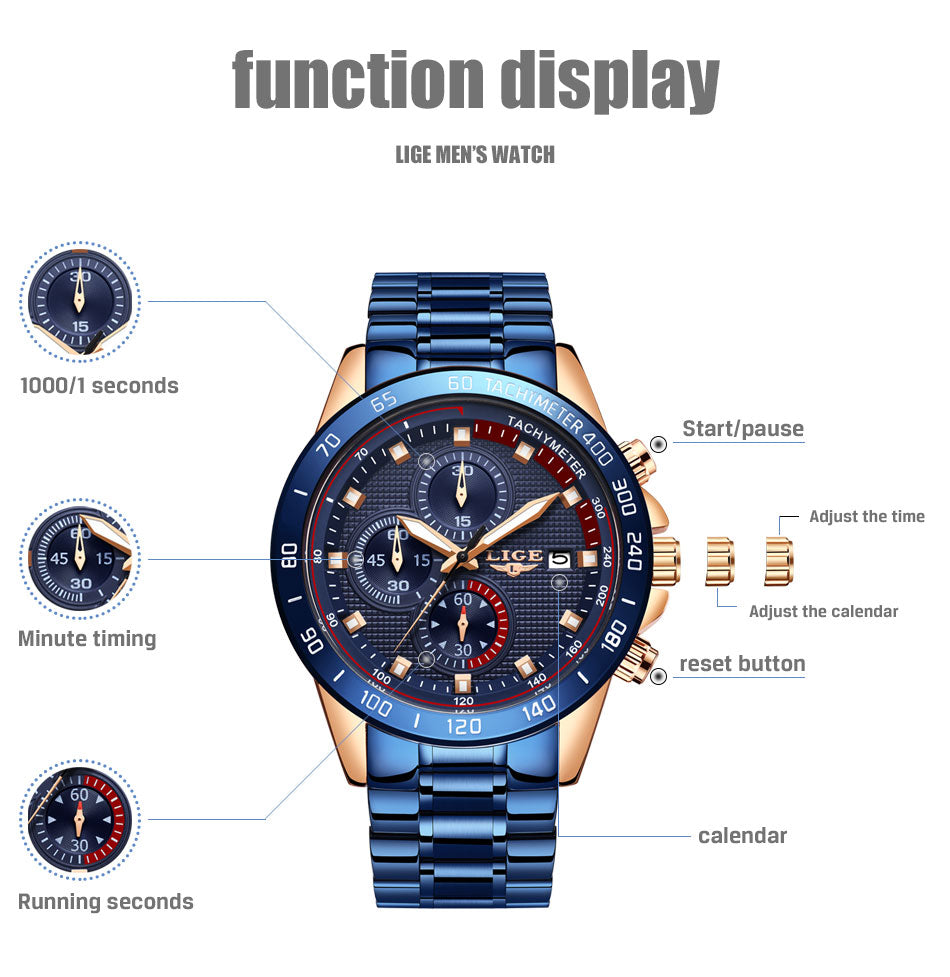New Luminous Stainless Steel Dress Watch