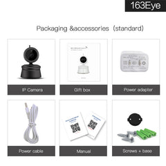 Multipurpose 1080P 360 Degree Rotation Wireless IP Camera with Night Vision