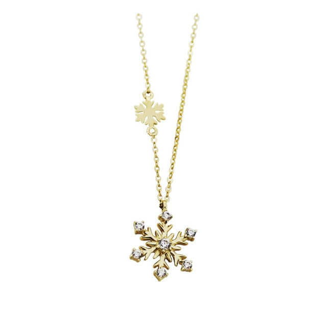 Perfect 925 Sterling Silver Snowflake Necklace