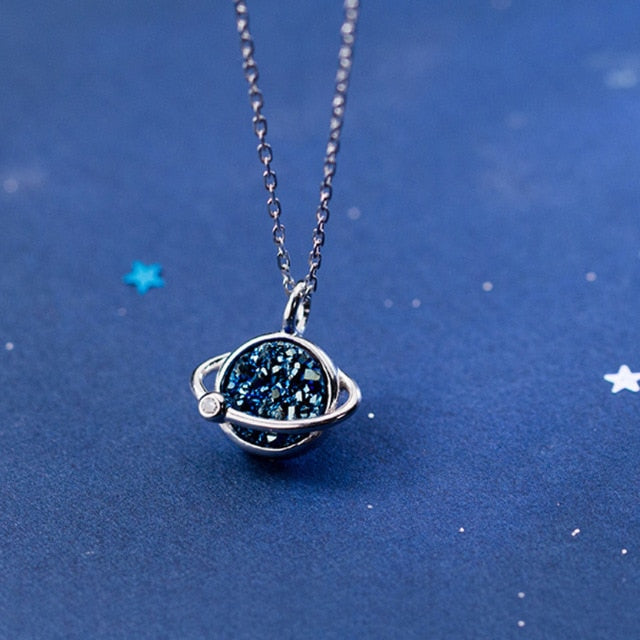 Blue Universe Womens Necklace