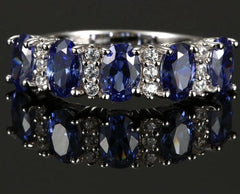 New 2020 100% 925 Sterling Silver with Blue Stone Ring