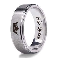 His Queen Her King Lovers Stainless Steel Rings