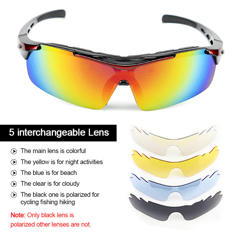 XS003 UV400 Polarized Cycling Sunglasses with 5 Interchangeable Lenses