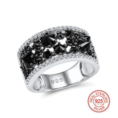 Black Spinel Party Ring