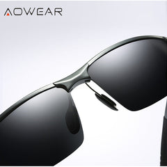HD Men's Photochromic Polarized Sunglasses in Aluminium Magnesium Frame