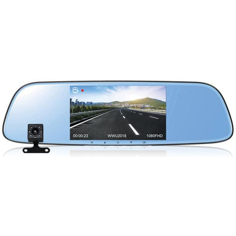 Rear-view Mirror Dash Cam, Dual Cam Recorder, Car Rear View Camera, Car Rearview Mirror Dash Cam, Vehicle Camera, 1080P HD Car DVR Rearview Mirror Dash Cam, Dash Cam Video HD 1080P Dash Cam Video Recorder Rearview Mirror, 1080P HD Camera recording
