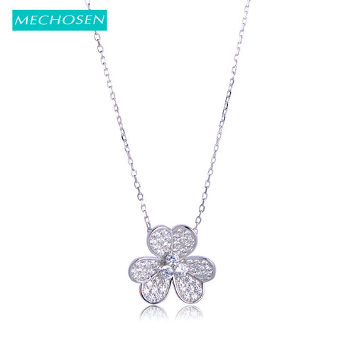 Genuine 925 Sterling Silver Clover Leaf Necklace