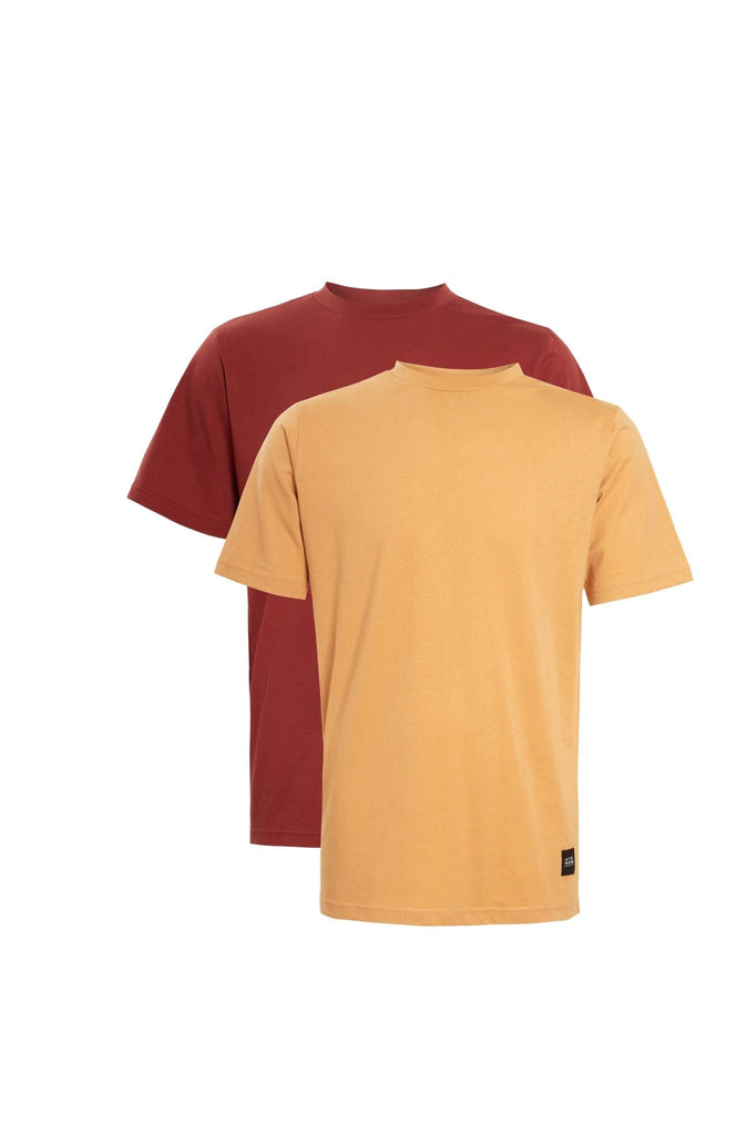 OVERSIZED T-SHIRT MULTIPACK - RUST/BROWN
