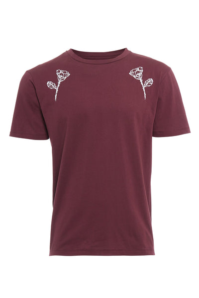 INTRICATE FLORAL EMBROIDERED TEE