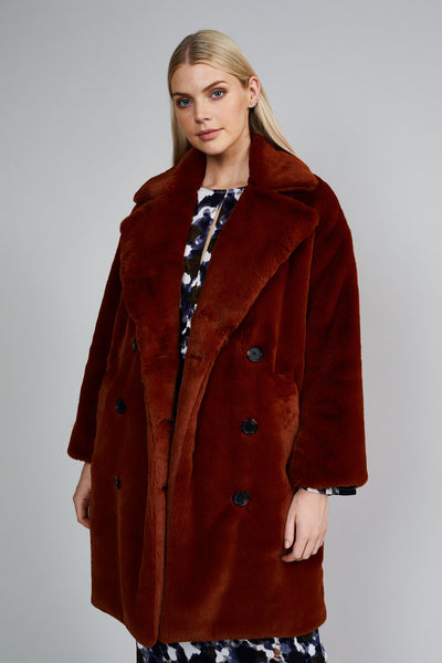THE CASJA FAUX FUR COAT