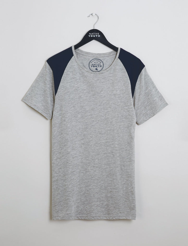 Grey Shoulder Block Tee