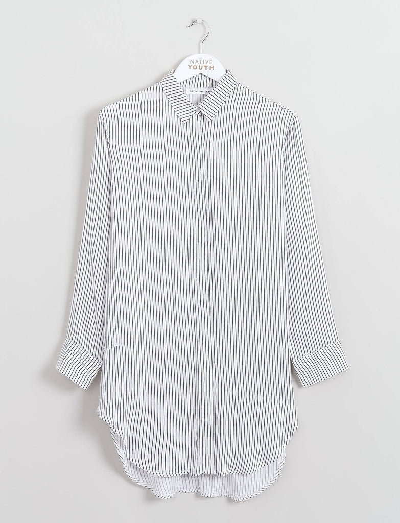 Longline Striped Shirt
