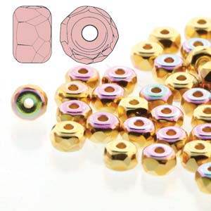 Fac. Micro Spacers 2X3mm 24K Plate AB 50 pcs