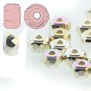 Fac. Micro Spacers 2X3mm Fine Silver Plate AB 50 pcs