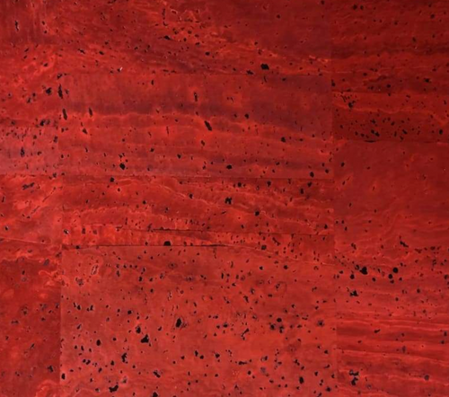 Cork Fabric - Surface Red Velvet