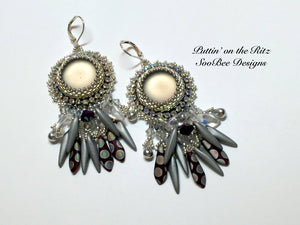 KIT - Puttin' On the Ritz Bead Embroidery Earring