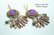 Load image into Gallery viewer, KIT - Puttin' On the Ritz Bead Embroidery Earring