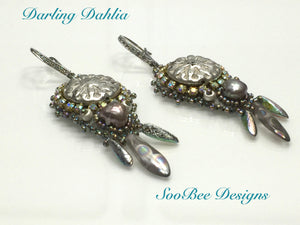 KIT - Darling Dahlia Bead Embroidery Earring