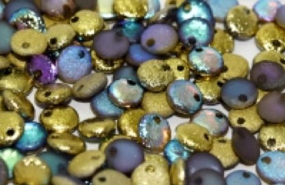 Lentil 6 mm Etched Crystal Golden Rainbow Full - 50 beads
