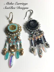 KIT - Aloha Bead Embroidery Earring