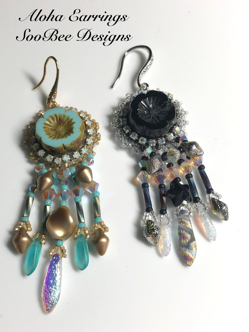 TUTORIAL ONLY - Aloha Bead Embroidery Earring