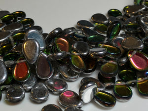Teardrop Bead 9x11mm Backlit Crystal Utopia 30 pcs