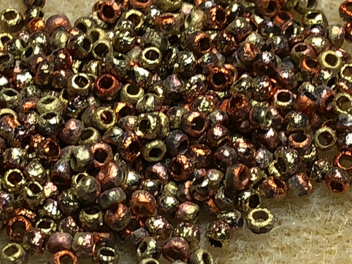 Seed Bead - Etched CA Gold Rush 8/0  - 10 gm tube