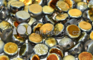 Cabochon 2-hole 6 mm Marea Etched  - 25 beads