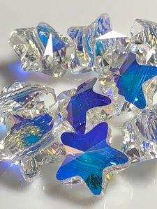 Swarovski Star Bead 8mm - Crystal AB 10 pcs