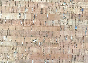 Cork Fabric - Natural with Silver