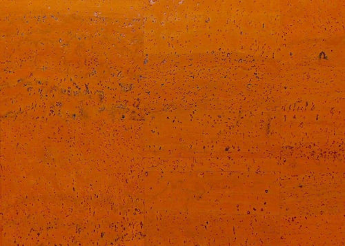 Cork Fabric - Pumpkin Orange