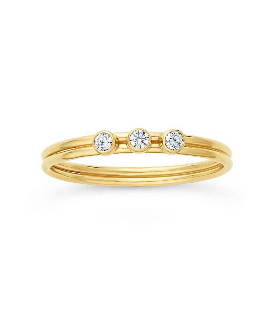 Tres CZ Stacking Ring