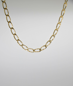 LONG CUBR LINK CHAIN NECKLACE