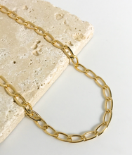 Load image into Gallery viewer, LONG CUBR LINK CHAIN NECKLACE