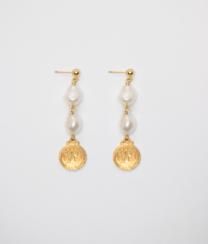 TESORO PEARL DROP EARRINGS