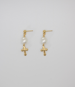 HEAVENLY PEARL DROP EARRINGS