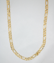 Load image into Gallery viewer, DIAMOND CUT FIGARO CHAIN NECKLACE