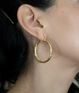 gold filled hoop, gold filled earring