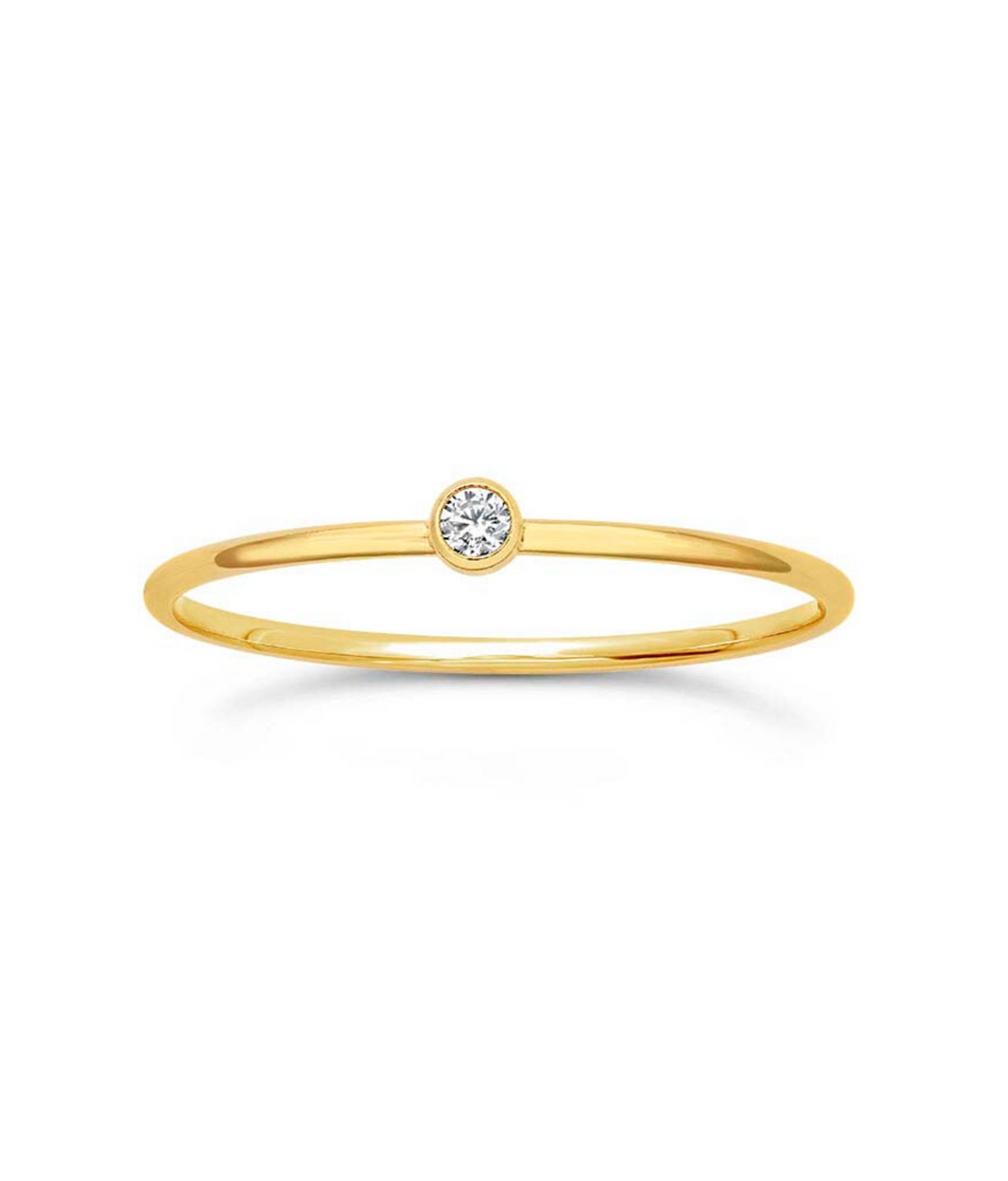 Solo CZ Stacking Ring