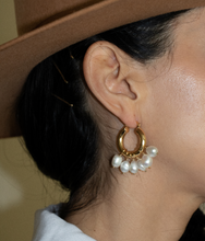 Load image into Gallery viewer, ETERNAL SUMMER PEARL HOOPS