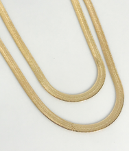 Load image into Gallery viewer, HERRINGBONE CHAIN NECKLACE | 4MM