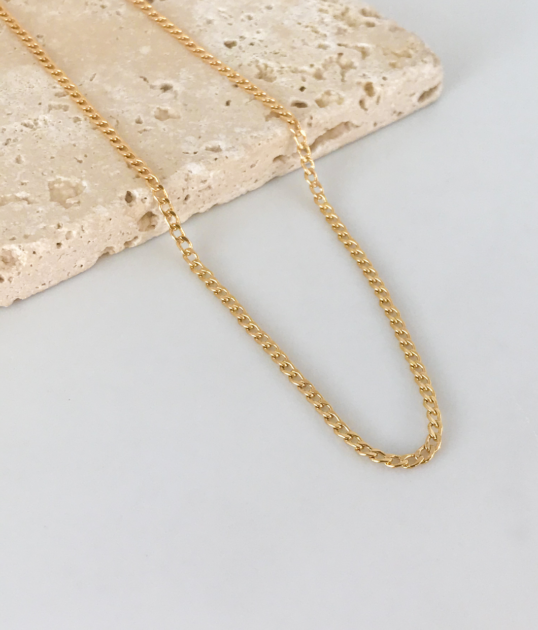 CUBAN LINK CHAIN NECKLACE | 2MM