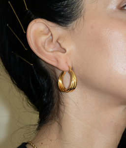 gold layered hoops