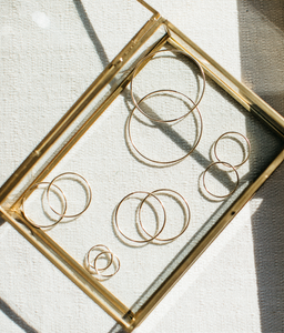 Elena Gold Filled Endless Hoop