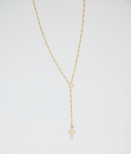 Load image into Gallery viewer, Holy Cross Lariat Gold Filled Necklace