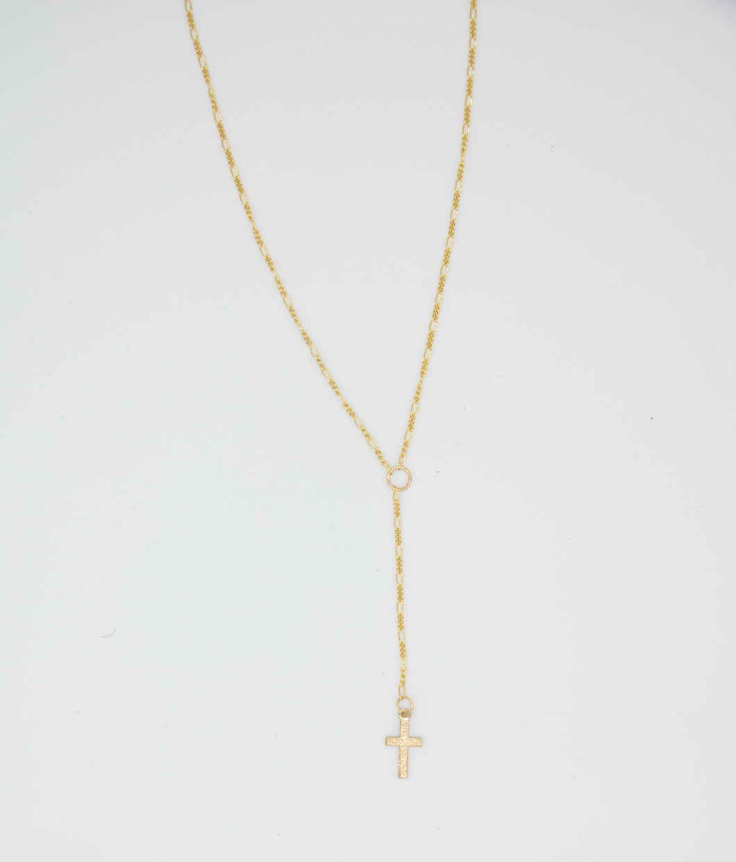Holy Cross Lariat Gold Filled Necklace
