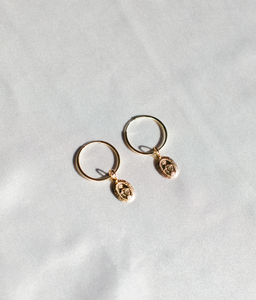 Maria Gold Filled Drop Hoops