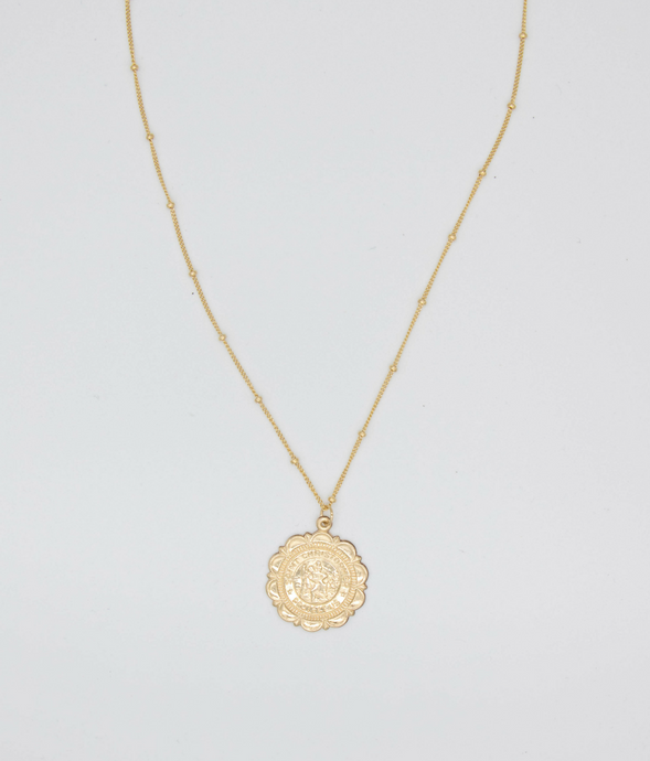St. Christopher Gold Filled Necklace, Holy Traveler Necklace