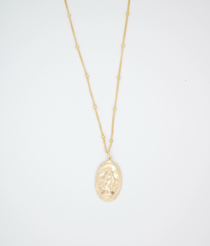 Virgen Maria Gold Filled Necklace