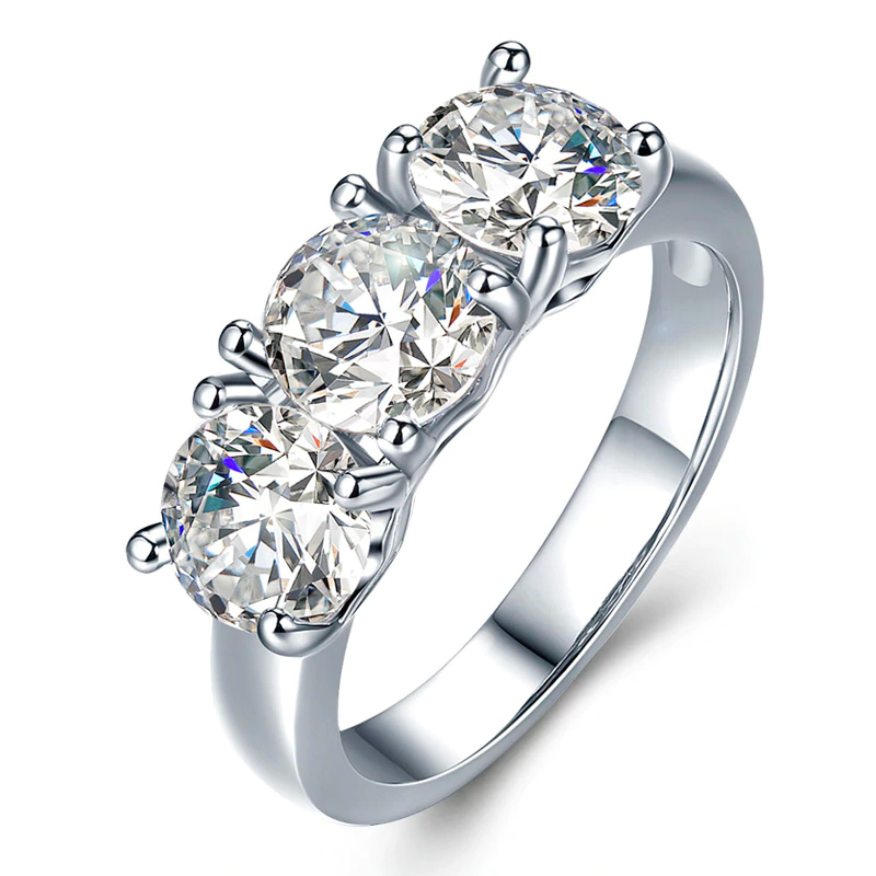 Triple Princess Stone Ring